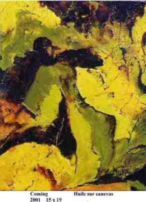 """conseil des arts Therese Fortin figuration abstraction peintre cv"""